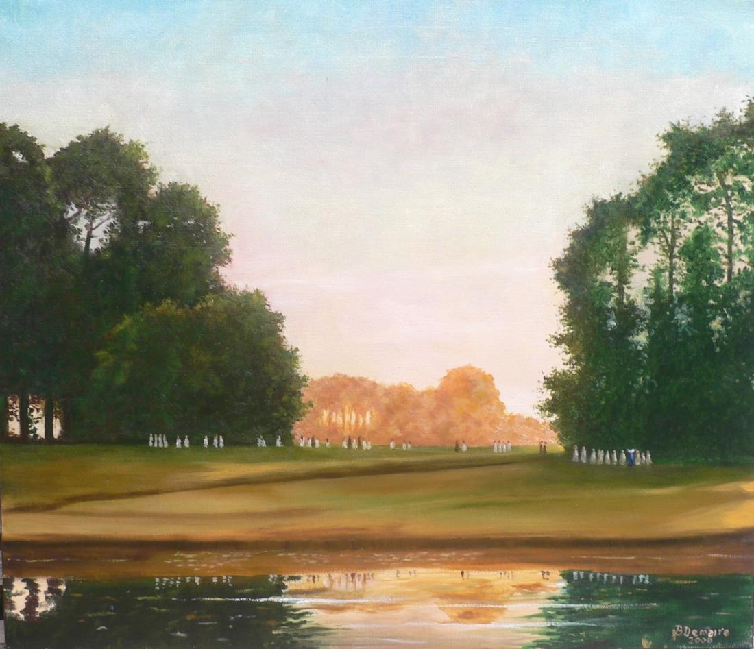Le parc de la Marlière d'après une photo de 1907
